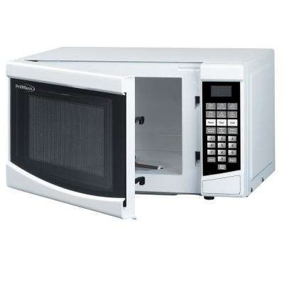 0.7 cu. ft. Counter Top Microwave in White