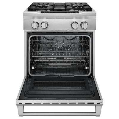 4.1 cu. ft. Commercial-Style Slide-In Dual-Fuel Range with Self-Cleaning Convection Oven in Stainless Steel