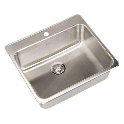 Prevoir Top Mount Stainless Steel 25 in. 1-Hole Single Bowl Kitchen Sink