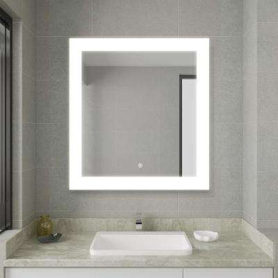 30.00 in. Width x 27.50 in. Height Frameless LED Lighted Bathroom Mirror