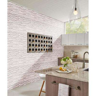 Arctic White 3D Ledger Panel 6 in. x 24 in. Honed Marble Wall Tile (10 cases / 60 sq. ft. / pallet)