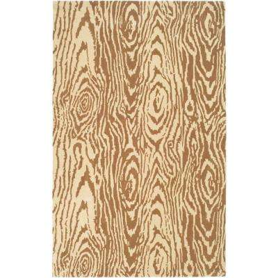 Layered Faux Bois Sequoia 4 ft. x 6 ft. Area Rug