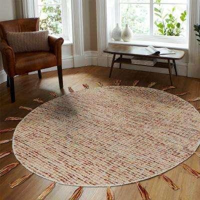 Dazzle Red / Multi 6 ft.  Round Indoor Area Rug