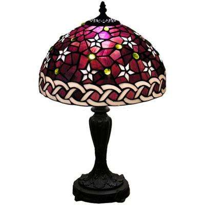17 in. Star Accent Mini Brown Table Lamp