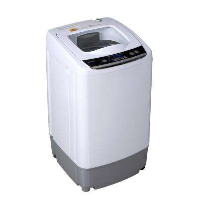 0.9 cu. ft. Compact Top Load Washing Machine in White with Stainless Steel Tub