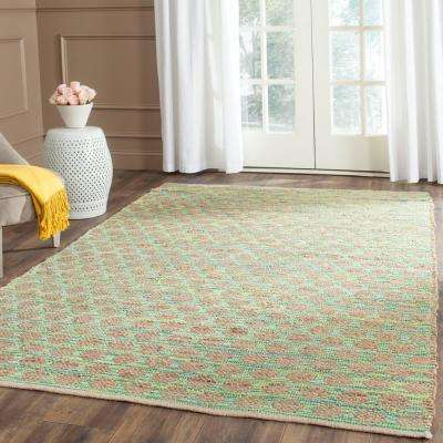 Cape Cod Teal/Natural 9 ft. x 12 ft. Area Rug