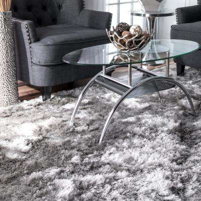 Latonia Silken Shaggy Silver 2 ft. 6 in. x 8 ft. Runner Rug