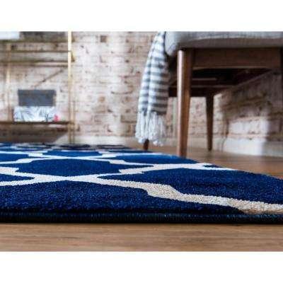 Trellis San Antonio Navy Blue 3' 3 x 5' 3 Area Rug