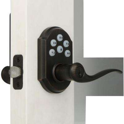 Z-Wave SmartCode Venetian Bronze Electronic Tustin Lever Featuring SmartKey