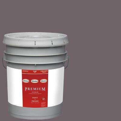 5-gal. #HDGCN59 Black Frosted Plum Flat Latex Interior Paint with Primer