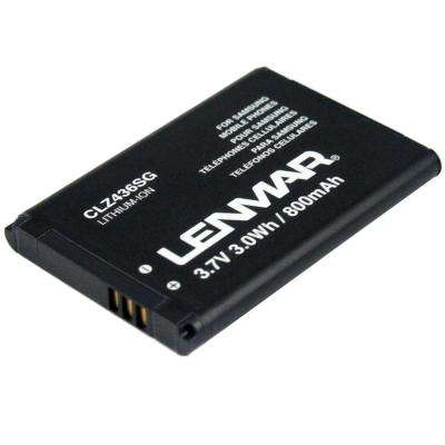 Lithium Ion 800mAh/3.7-Volt Mobile Phone Replacement Battery