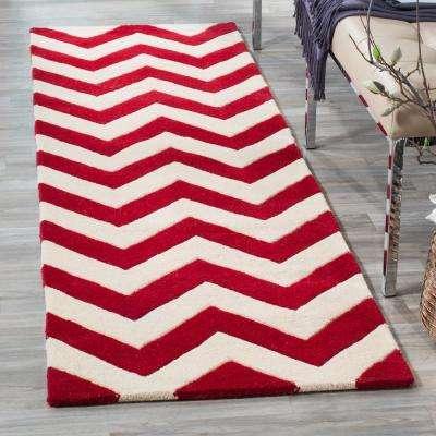 Chatham Red/Ivory 2 ft. x 5 ft. Runner Rug