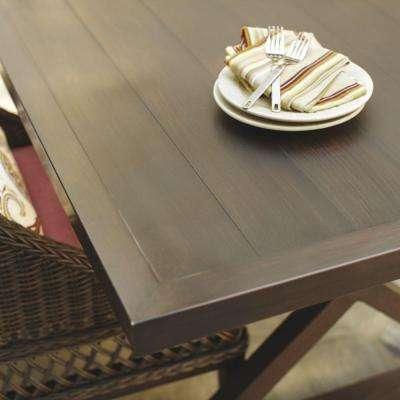Woodbury Metal Rectangular Outdoor Patio Dining Table