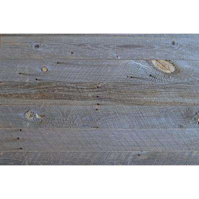 1/4 in. x 5 in. x Random Length Winter Grey Reclaimed Wood Wall Paneling (20 sq. ft. per box)