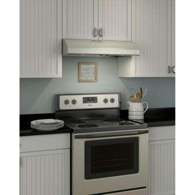 Osmos 30 in. Convertible Under Cabinet Range Hood with Light in Stainless Steel