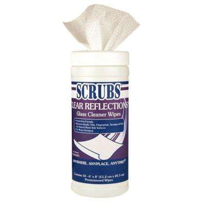 6 in. x 8 in. Glass Cleaner Wipes (50 Wipes)