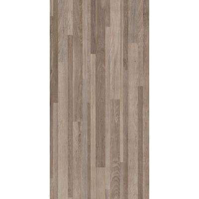 12 in. x 24 in. Taupe Banded Wood Peel and Stick Parquet Vinyl Tile Flooring (20 sq. ft. / case)