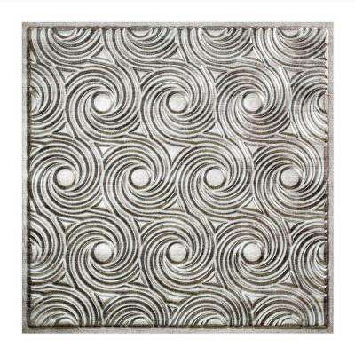 Cyclone - 2 ft. x 2 ft. Lay-in Ceiling Tile in Crosshatch Silver