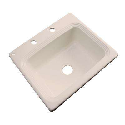Rochester Drop-In Acrylic 25 in. 2-Hole Single Bowl Kitchen Sink in Candle Lyte
