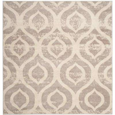Amsterdam Ivory/Mauve 6 ft. 7 in. x 6 ft. 7 in. Square Area Rug