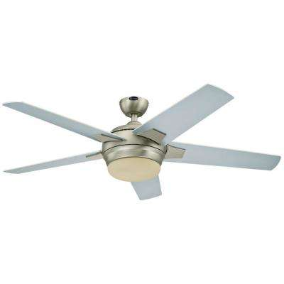 Bolton 52 in. Indoor Brushed Aluminum Finish Ceiling Fan
