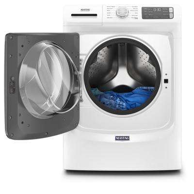 4.8 cu. ft. Stackable White Front Load Washing Machine with Steam and 16-Hour Fresh Hold Option, ENERGY STAR