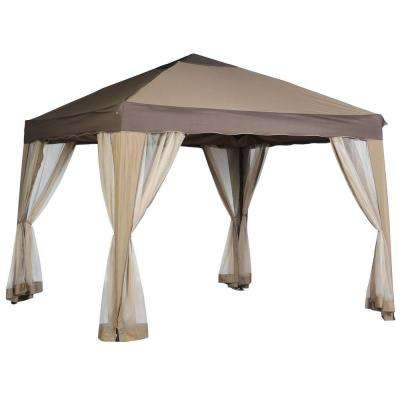 10 ft. x 10 ft. Pitched Roof Line Portable Patio Replacement Canopy
