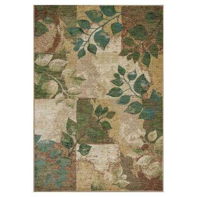 Plantscape Multi/Green 2 ft. 3 in. x 3 ft. 3 in. Area Rug