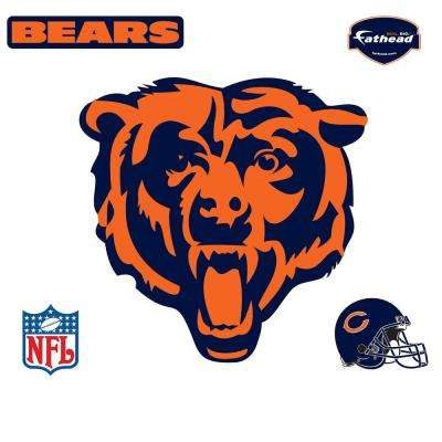 39 in. H x 40 in. W Chicago Bears Logo Wall Mural