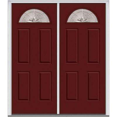 Heirloom Master Deco Glass 1/4 Lite Painted Majestic Steel Double Prehung Front Door