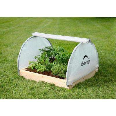 11.8 in x 41.3 in x 4.1 in GrowIt Raised Bed Greenhouse with Fully Closable Cover, High-Grade Steel Frame, and Vents