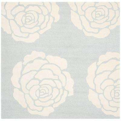 Cambridge Gray/Ivory 6 ft. x 6 ft. Square Area Rug