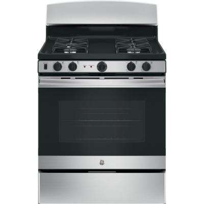30 in. cu. ft. Free-Standing Gas Range with Self-Cleaning Oven in Stainless Steel