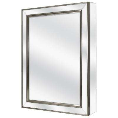 20 in. W x 26 in. H Fog Free Framed Recessed or Surface-Mount Mirror on Mirror Bathroom Medicine Cabinet