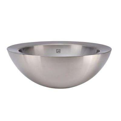 Simply Stainless Vessel Sink in Polished Stainless Steel