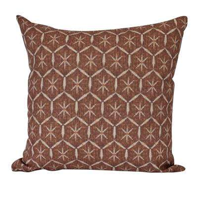 18 in. Tufted Geometric Print Decorative Pillow