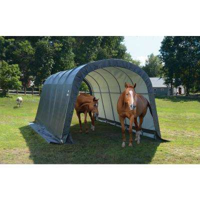 12 ft. W x 20 ft. D x 8 ft. H Run-In Peak Style Shed-in-a-Box in Green with Steel Frame and Patented Stabilizers