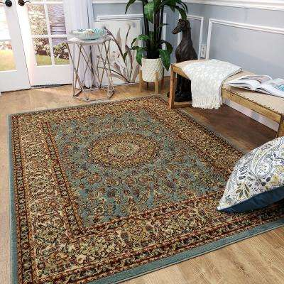 Pasha Collection Blue 3 ft. x 5 ft. Area Rug