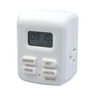 2-Outlet Grounded Programmable Indoor 7-Day Programmable Astronomical Timer