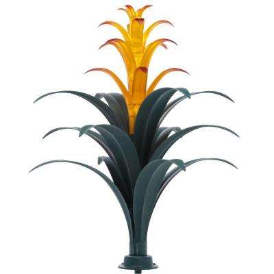 Bromeliad Brown Plant Solar LED Light