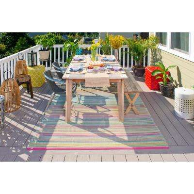 Cancun Indoor/Outdoor Candy 3 ft. x 5 ft. Area Rug