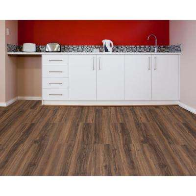 Sterling 6 in. x 36 in. Driftwood Peel and Stick Vinyl Plank Flooring (15 sq. ft. / case)