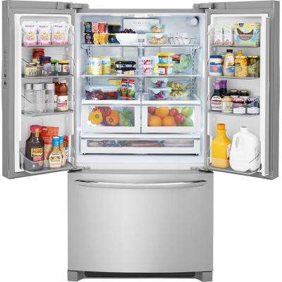 22.4 cu. ft. Non-Dispenser French Door Refrigerator in Smudge-Proof Stainless Steel Counter Depth