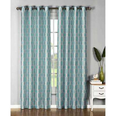 Semi-Opaque Wesley Faux Silk Grommet Extra Wide Curtain Panel