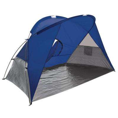 Cove Sun Shelter in Blue Grey and Silver