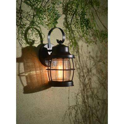 Sidelight 1-Light Outdoor Bronze Lantern