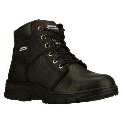 Workshire Men Black Leather Work Boot