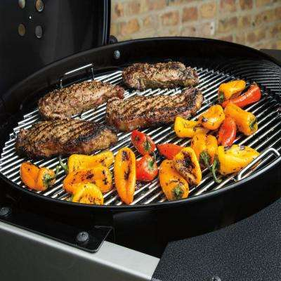 22 in. Performer Premium Charcoal Grill in Black with Built-In Thermometer and Digital Timer