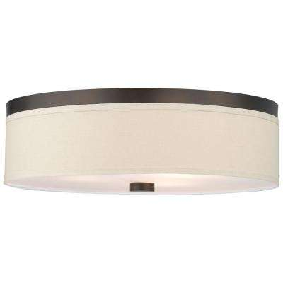Embarcadero 3-Light Sorrel Bronze Ceiling Fixture