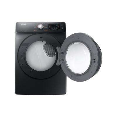 7.5 cu. ft. Electric Dryer with Steam in Black Stainless